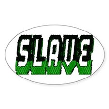 SLAVE-GREEN/BLACK MOSAIC OUTL Oval Decal