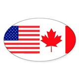 AmeriCanadian Oval Decal