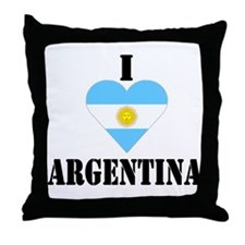 I Love Argentina Throw Pillow