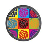 Volleyball Pop Art Wall Clock