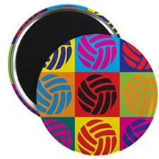"Volleyball Pop Art 2.25"" Magnet (100 pack)"
