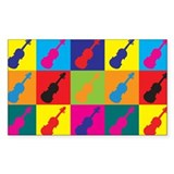Violin Pop Art Rectangle Decal