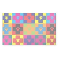 Veterinary Medicine Pop Art Rectangle Sticker 10