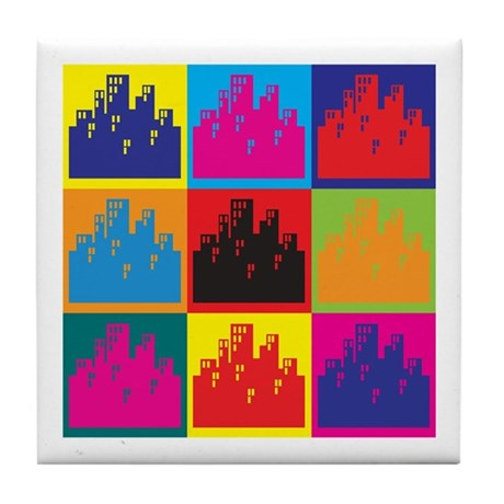 Urban Planning Pop Art Tile Coaster