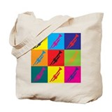 Trumpet Pop Art Tote Bag