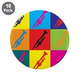 "Trumpet Pop Art 3.5"" Button (10 pack)"
