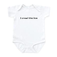 I CRAWL THE LINE Infant Bodysuit