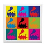 Trains Pop Art Tile Coaster