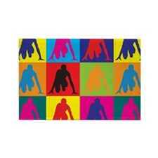 Track Pop Art Rectangle Magnet