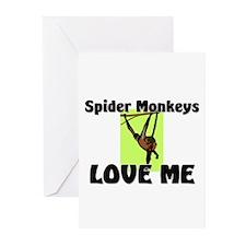 Spider Monkeys Love Me Greeting Cards (Pk of 10)