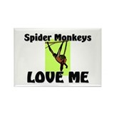 Spider Monkeys Love Me Rectangle Magnet