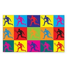 Tennis Pop Art Rectangle Sticker 10 pk)