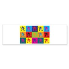 Tennis Pop Art Bumper Sticker (10 pk)