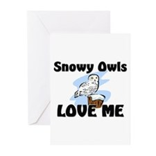 Snowy Owls Love Me Greeting Cards (Pk of 10)