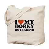 I Love My Dorky Boyfriend Tote Bag