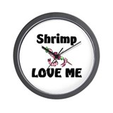 Shrimp Love Me Wall Clock