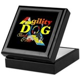 Border Collie Agility Keepsake Box