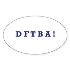 DFTBA - Oval Decal