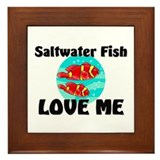 Saltwater Fish Love Me Framed Tile