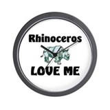Rhinoceros Love Me Wall Clock