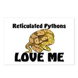 Reticulated Pythons Love Me Postcards (Package of