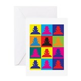 Spying Pop Art Greeting Card
