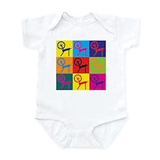 Spinning Pop Art Infant Bodysuit