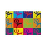 Spinning Pop Art Rectangle Magnet (10 pack)
