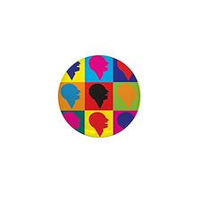 Speech Therapy Pop Art Mini Button