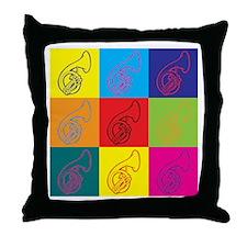 Sousaphone Pop Art Throw Pillow