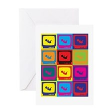 Sonograms Pop Art Greeting Card