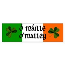 O'Malley in Irish & English Bumper Bumper Sticker