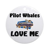 Pilot Whales Love Me Ornament (Round)