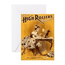 High Rollers Burlesque Greeting Cards (Pk of 10)