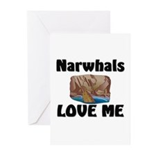 Narwhals Love Me Greeting Cards (Pk of 10)