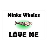Minke Whales Love Me Postcards (Package of 8)