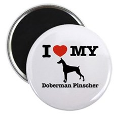 I love my Doberman Pinscher Magnet