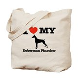 I love my Doberman Pinscher Tote Bag