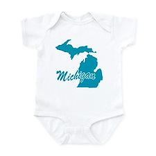 State Michigan Infant Bodysuit
