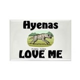 Hyenas Love Me Rectangle Magnet