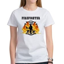 Firefighting Flames Tee