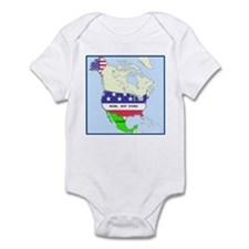 Funny Mexico America Map Infant Bodysuit