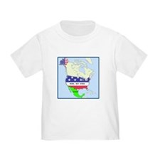 Funny Mexico America Map T