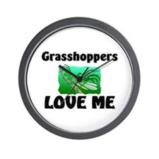 Grasshoppers Love Me Wall Clock