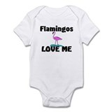 Flamingos Love Me Infant Bodysuit
