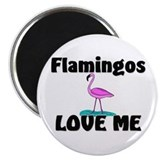 Flamingos Love Me Magnet