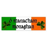 Monaghan in Irish &amp; English Bumper Car Sticker