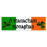 Monaghan in Irish & English Bumper Car Sticker