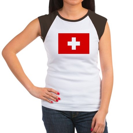 SWISS CROSS FLAG Women's Cap Sleeve T-Shirt
