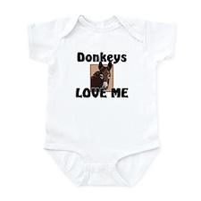 Donkeys Love Me Infant Bodysuit